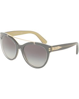 Universal-fit Square Brow-bar Sunglasses