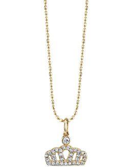 Diamond Crown Pendant Necklace