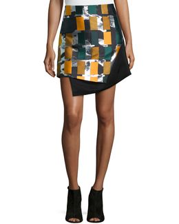 Color Story Jacquard Skirt