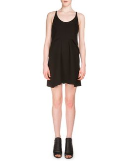 Sleeveless Crepe Tank Dress