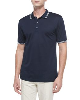 Tape-tipped Short-sleeve Polo