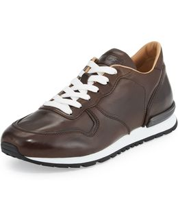 Smooth Leather Trainer Sneaker