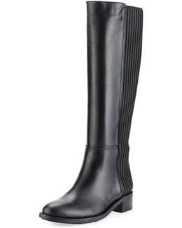 Orlena Layered Leather Tall Boot