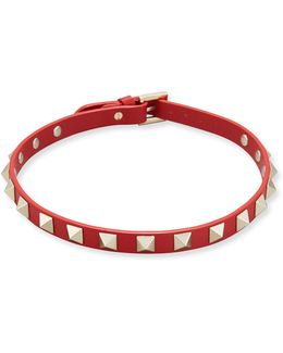Leather Rockstud Choker Necklace