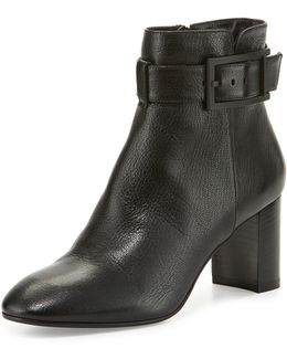 Vanie Leather Ankle-strap Boot