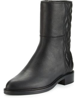 Gabrina Diamond-quilted Leather Boot