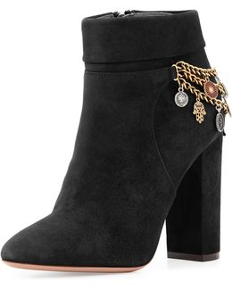 Naty Suede Charm Bootie