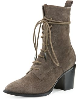 Duran Lace-up Block-heel Boot