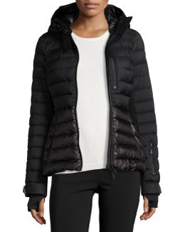 Quilted Matte & Shiny Puffer Coat