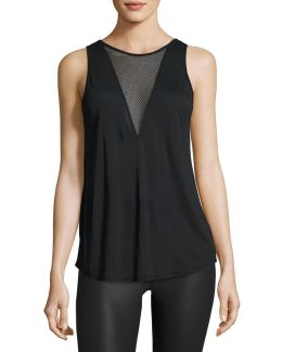 Warm Up Mesh-inset Tank Top