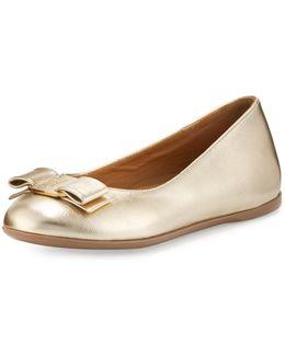 Varina Mini Leather Ballet Flat