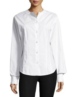 Asher Fitted Button-down Poplin Shirt