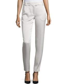 Wallace Satin Slim-fit Trousers