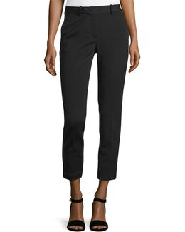 Treeca K Oxford Cropped Pants