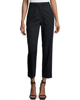 Benji Cropped High-rise Pinstripe Pants