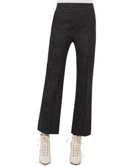 Cara Cropped Full-leg Denim Pants