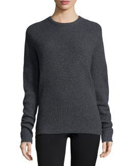 Peter Ribbed Open-back Sweater