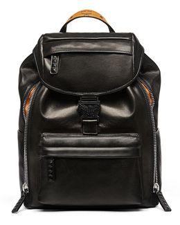 Killian Men's Medium Leather Logo Backpack