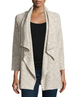 Gwynn Draped Open-front Cardigan