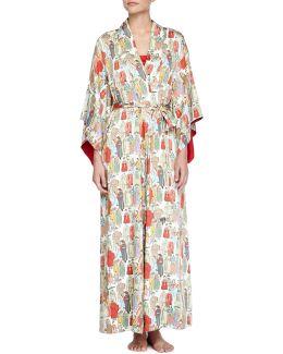 Dynasty Pearl-print Long Robe