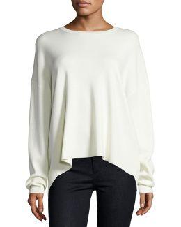 Twylina Refine Flyaway-back Sweater