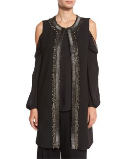 Cheyenne Long Embroidered Vest