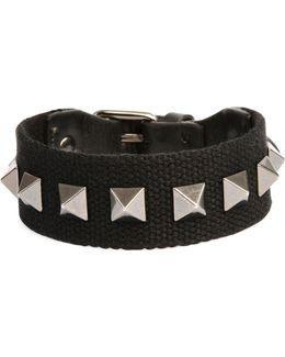 Men's Nylon Rockstud Bracelet