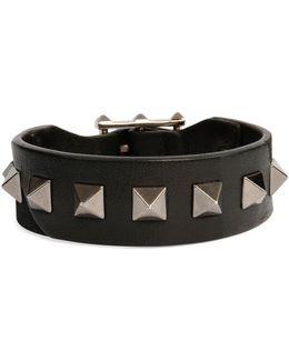 Men's Rockstud Camo Leather Bracelet