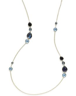 18k Rock Candy Gelato Grouped Station Necklace In Midnight Rain