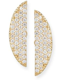 Eclipse 14k Pavé Diamond Earrings