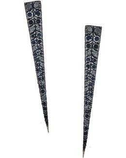 Reckless Black Diamond Spike Earrings