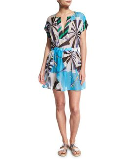 Parasol Hammered Silk Coverup Dress