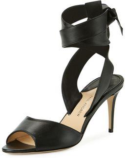 Lulea Leather Ankle-wrap Sandal