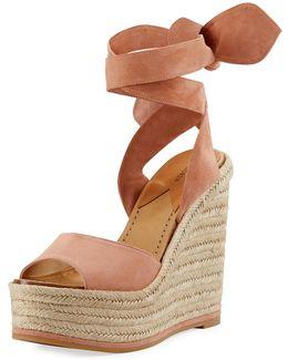 Lulea Suede Espadrille Wedge Sandal