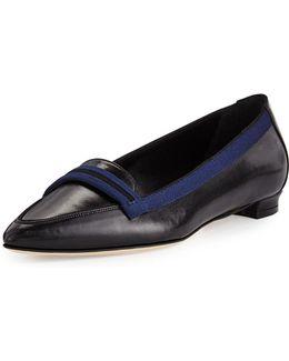 Salute Grosgrain-trim Leather Loafer
