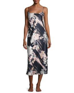 Layla Long Satin Nightgown