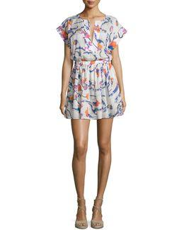 Ranuncoli Cotton Voile Coverup Dress