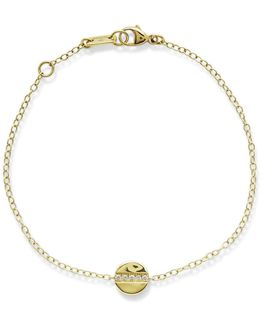 18k Senso Mini Disc Bracelet With Diamonds