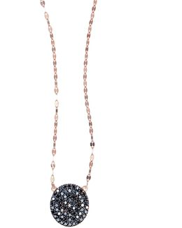 Reckless Rose Black Diamond Pendant Necklace