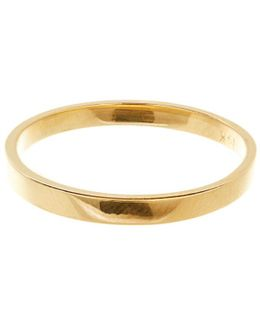 Nude Small Vanity Band Ring In 14k Gold