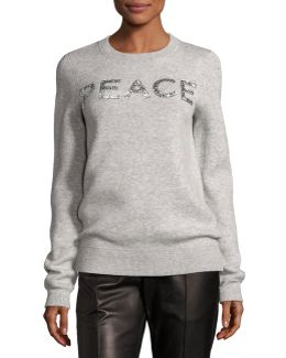 Holiday Peace Cashmere Sweater