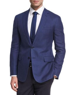 Herringbone Linen-wool Sport Coat