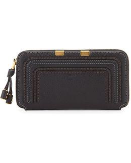 Marcie Calfskin Zip-around Wallet