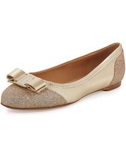 Varina Glitter Cap-toe Flat