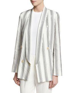 Micro Paillette Striped Blazer
