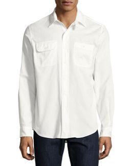 Basketweave Cotton Shirt