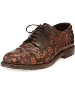 Santeria Etched Lace-up Shoe