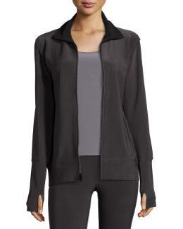 Bonded Jersey Zip-front Turtle Jacket