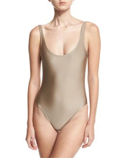 Classic Solid One-piece Swimsuit