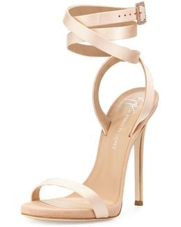 Leslie Satin Ankle-wrap 120mm Sandal
